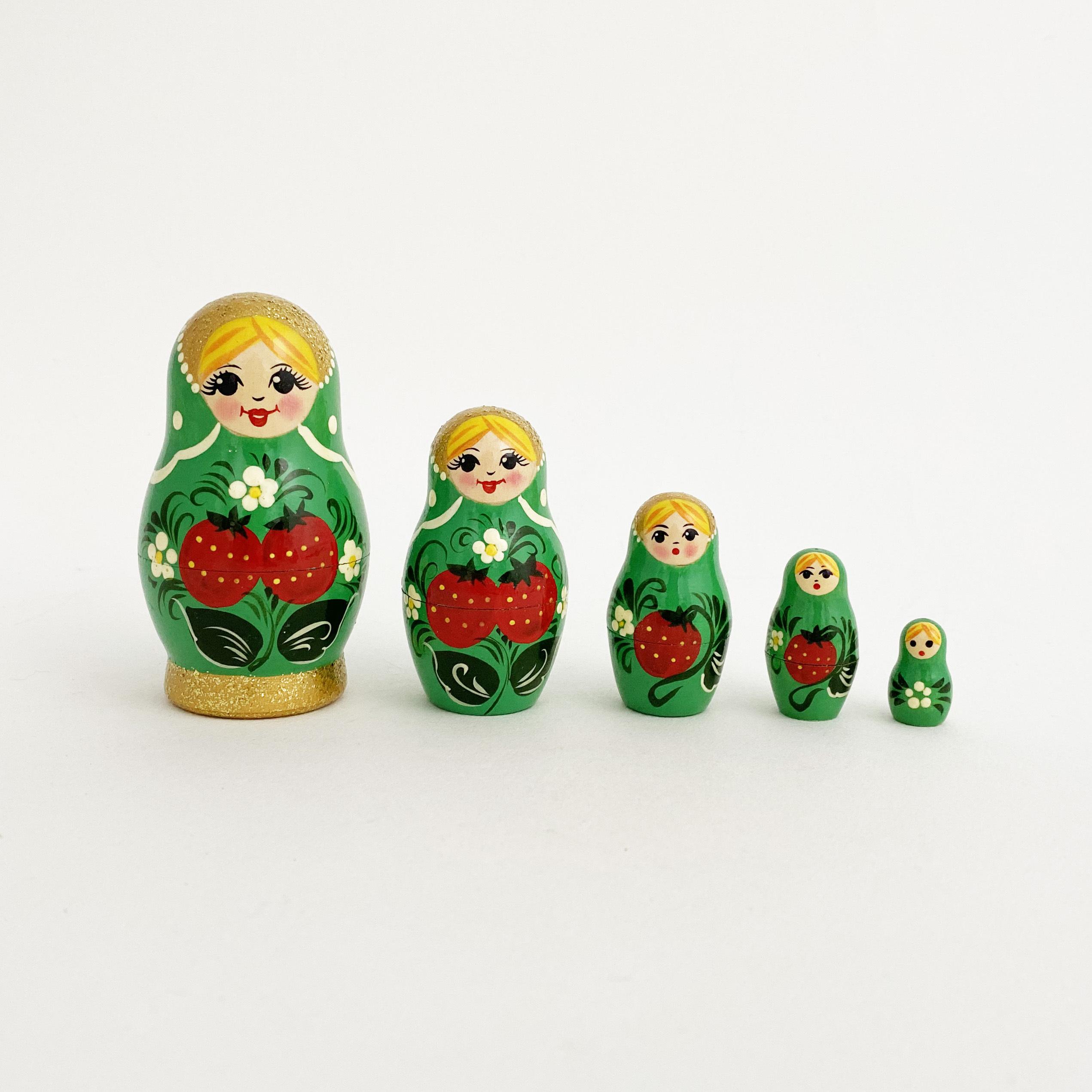 ノーリンスク産マトリョーシカ/いちご5個組
