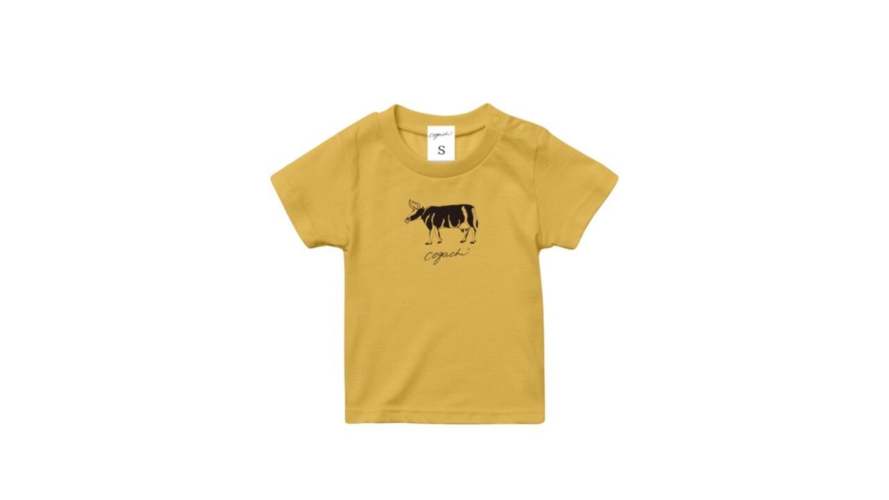 coguchi cow kids Tshirt (YEL) 90cm