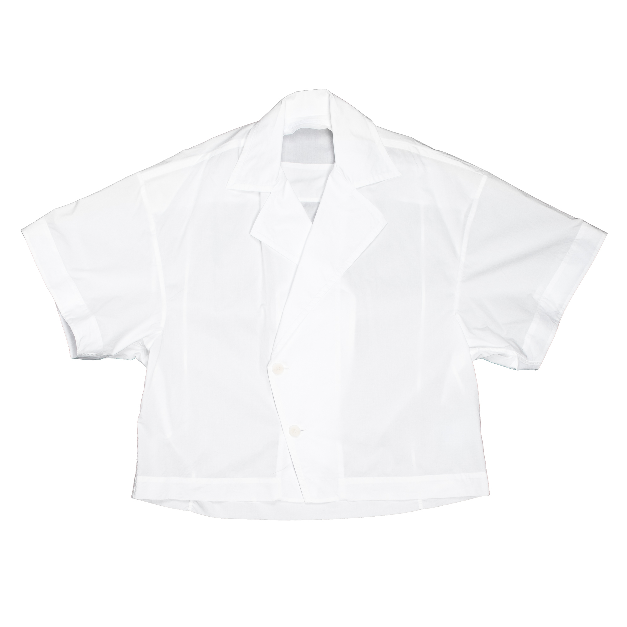 657SHM3-WHITE / オープンカラーボックスシャツ