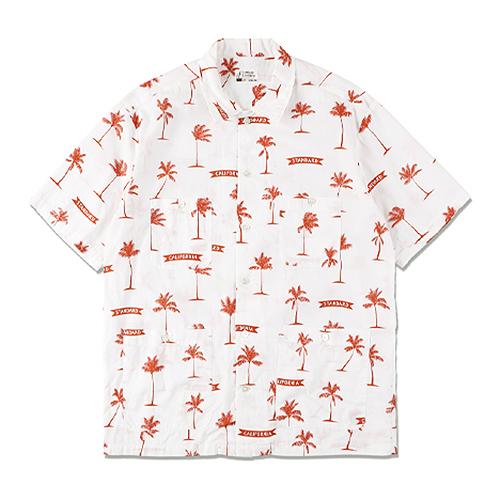 STANDARD CALIFORNIA #SD Palm Tree Shirt Fabric Designed By Jeff Canham White