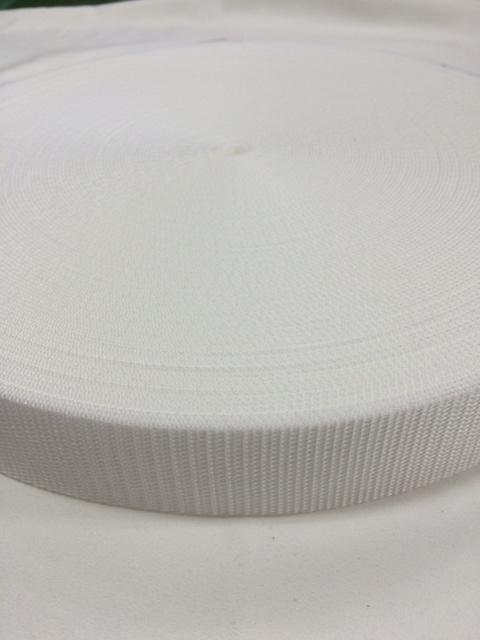 PPテープ 20mm幅 1.2㎜厚 白  5m単位