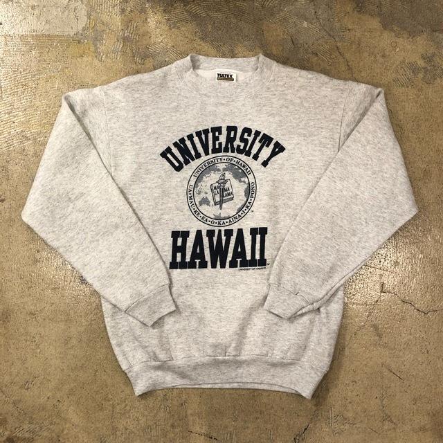 Hawaii University Print Sweat ¥4,400+tax