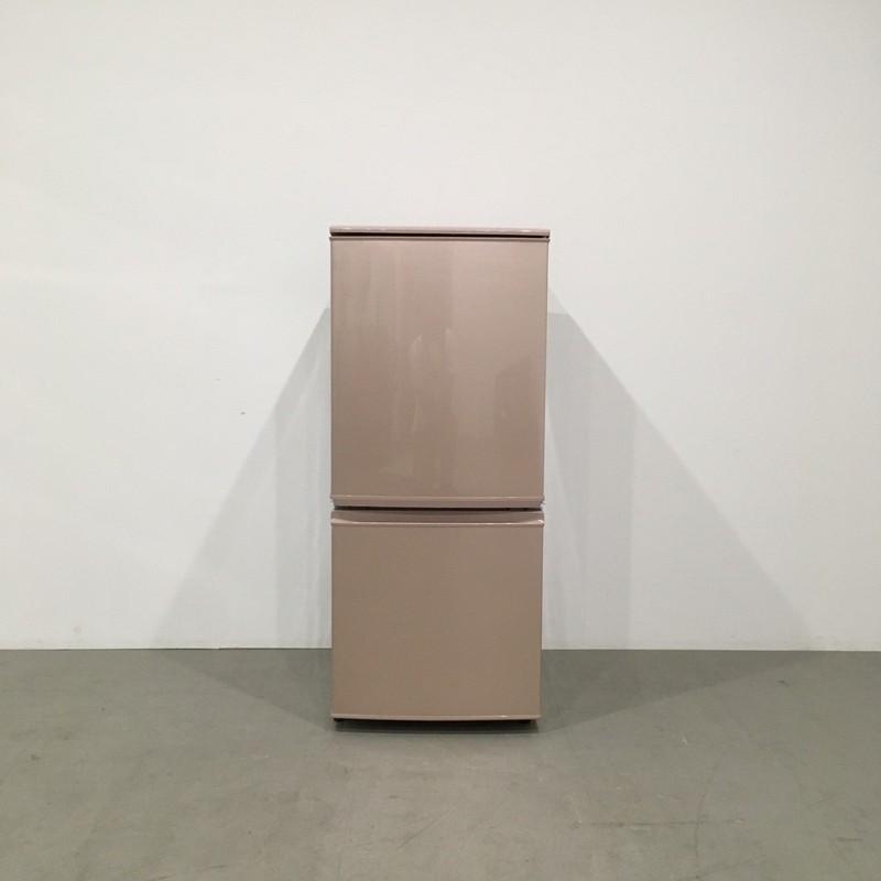 【極美品】シャープ 2ドア冷蔵庫 SJ-14W-P 2012年製 ピンク つけかえどっちもドア