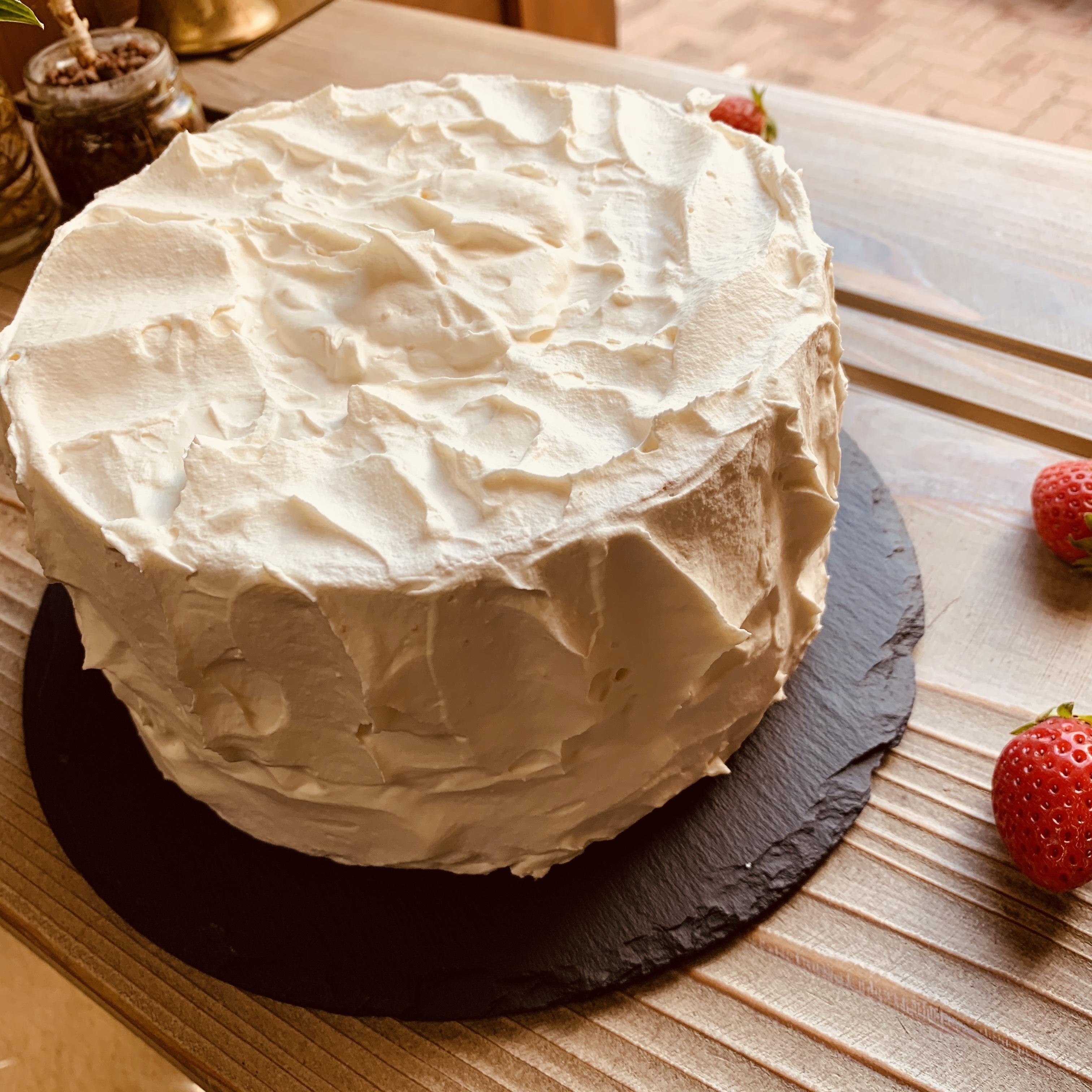 配送専用 おうちで仕上げるバースデーケーキ 米粉のシフォンケーキ ※必ず説明をお読みください