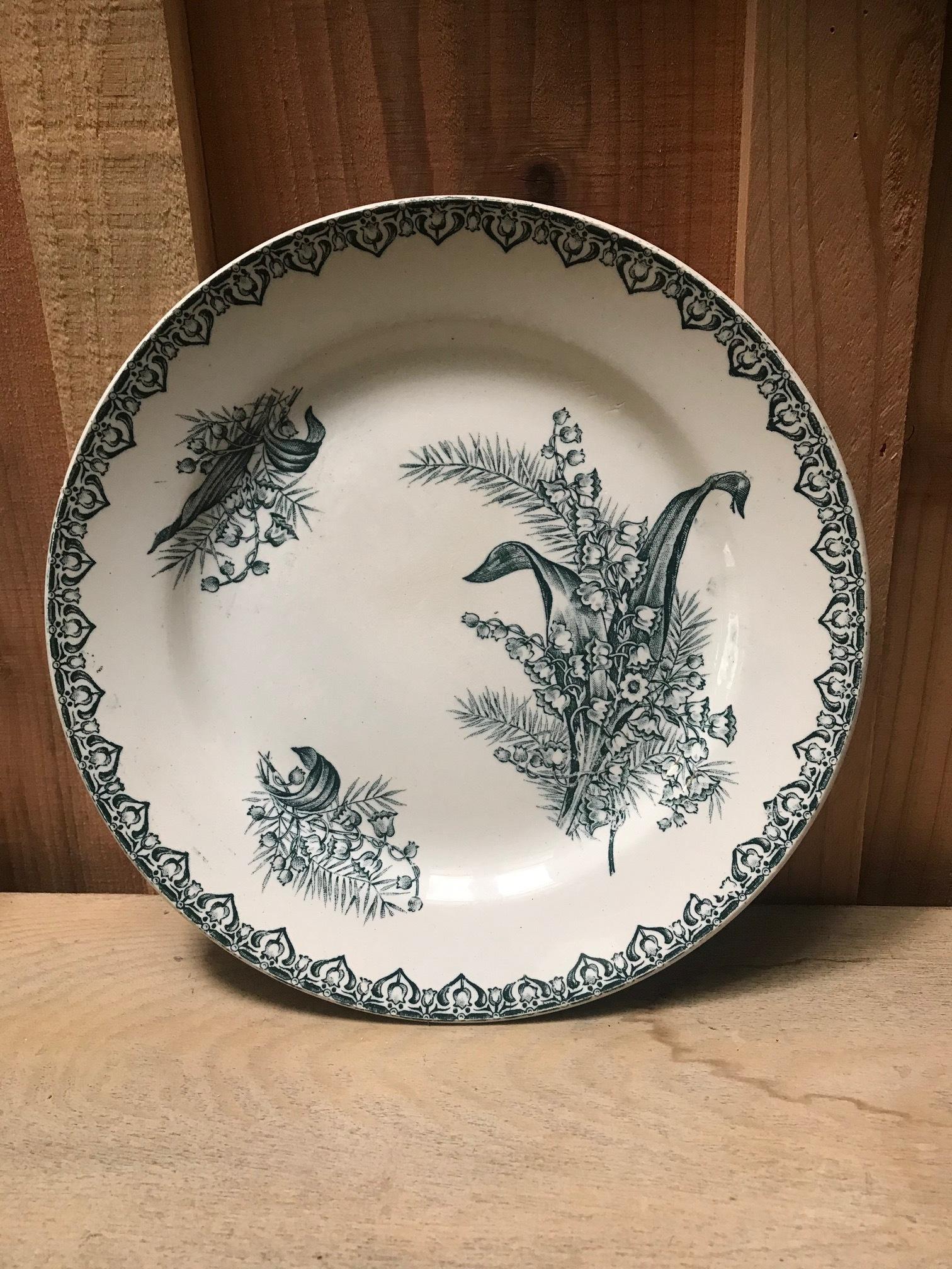 1900年代 フランスアンティーク すずらん柄 プレート 皿