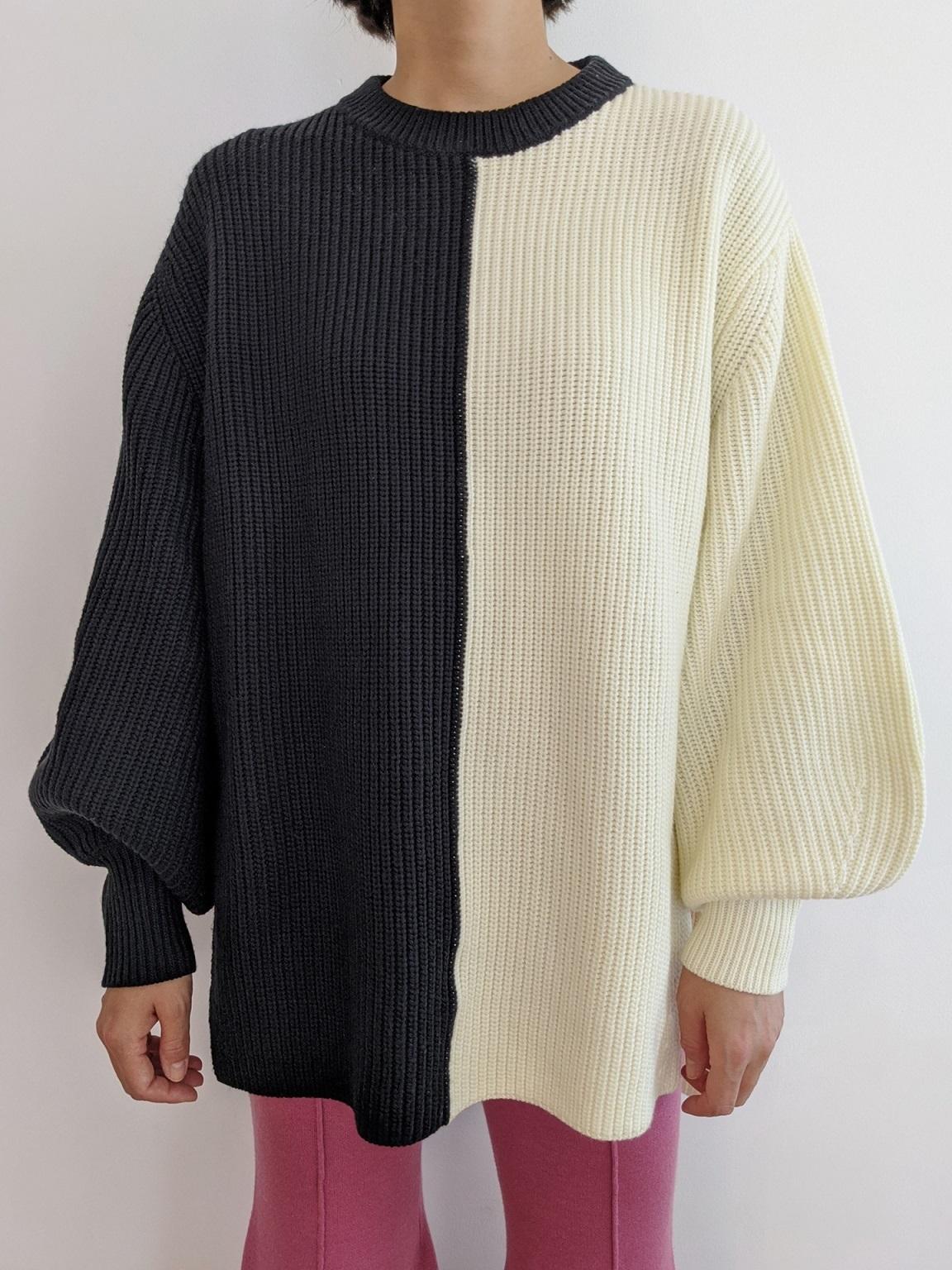 Bicolor Pullover - Black/White