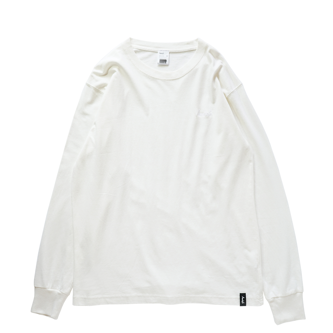 BASIC LOGO 2019 L/S CT <Natural×White> - 画像1