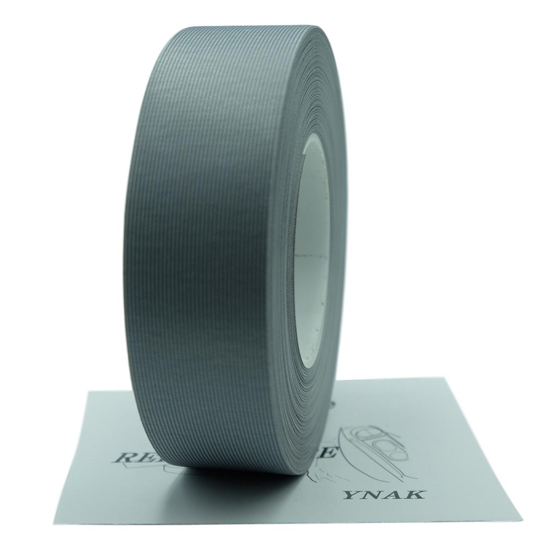 YNAK テント ザック タープ シート レインウェアー 補修 メンテナンス 用 強力 トリコット 表面布状 アイロン式 3レイヤー適合 説明書付き シームテープ (グレー,幅30mm×20m)