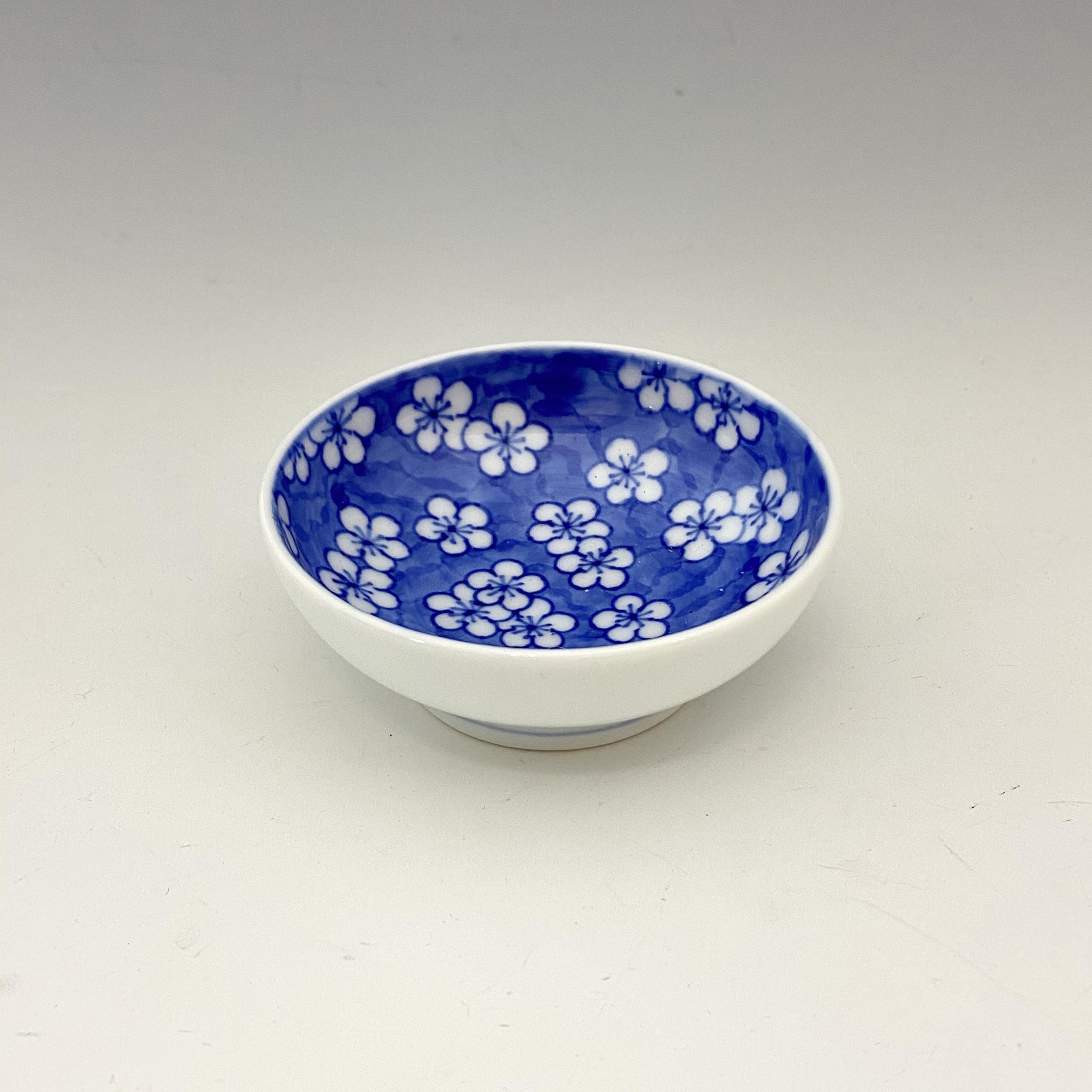 【中尾英純】染付梅文豆皿