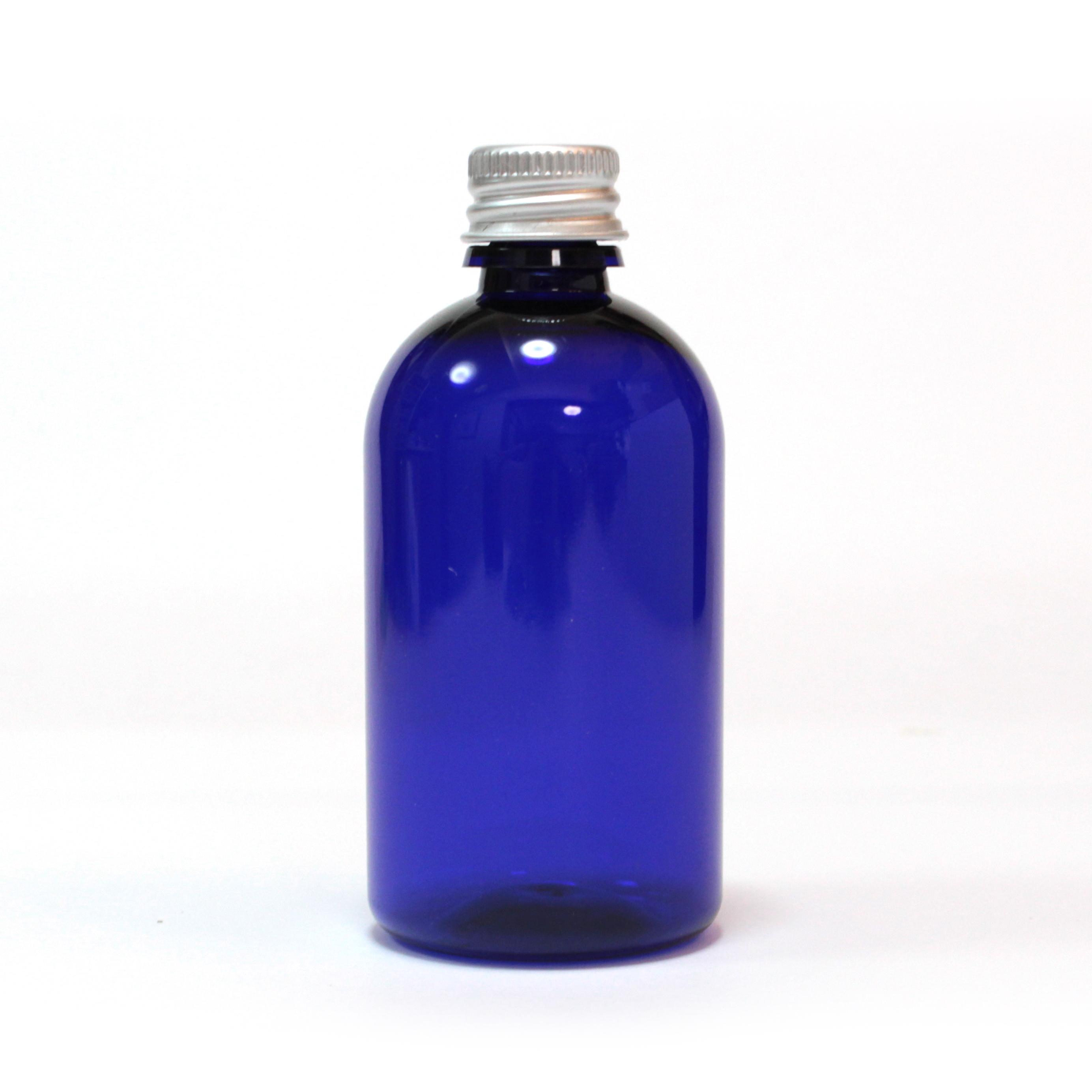 プラスチックアルミキャップ付ボトル(ブルー)100ml