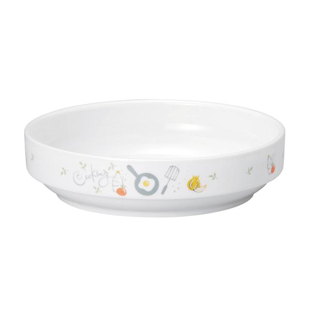 強化磁器 17cm すくいやすい食器 クッキング 【1715-1240】