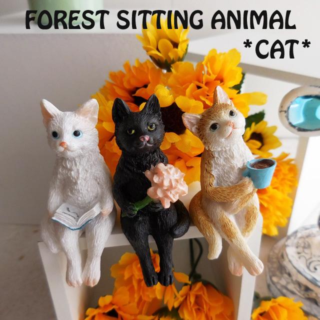 (342) キーストーン シッティングアニマル キャット 猫 置物
