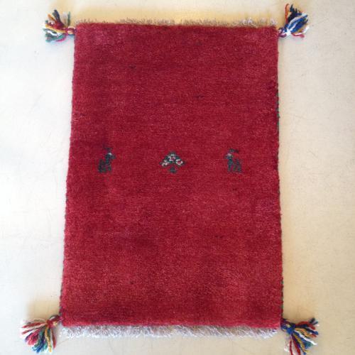 真っ赤なギャッベ 40×57cm