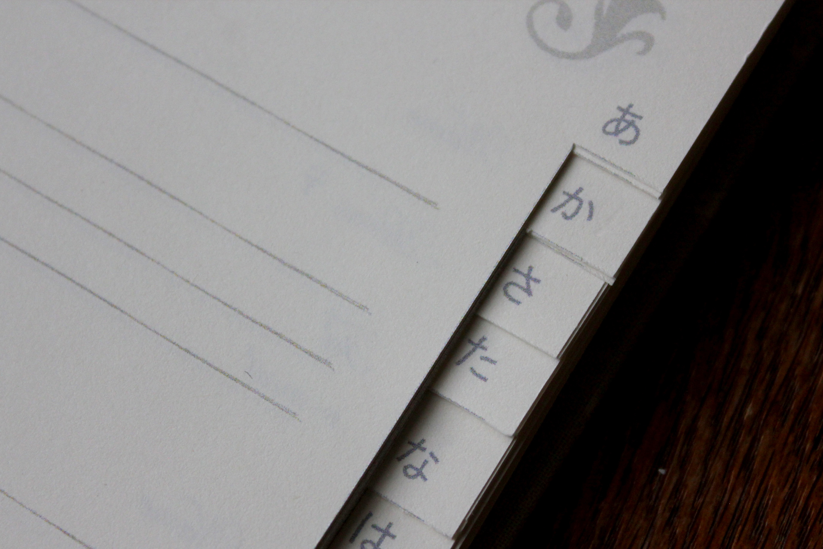 ゲストブックにもなるアドレス帳(花柄ブルー)