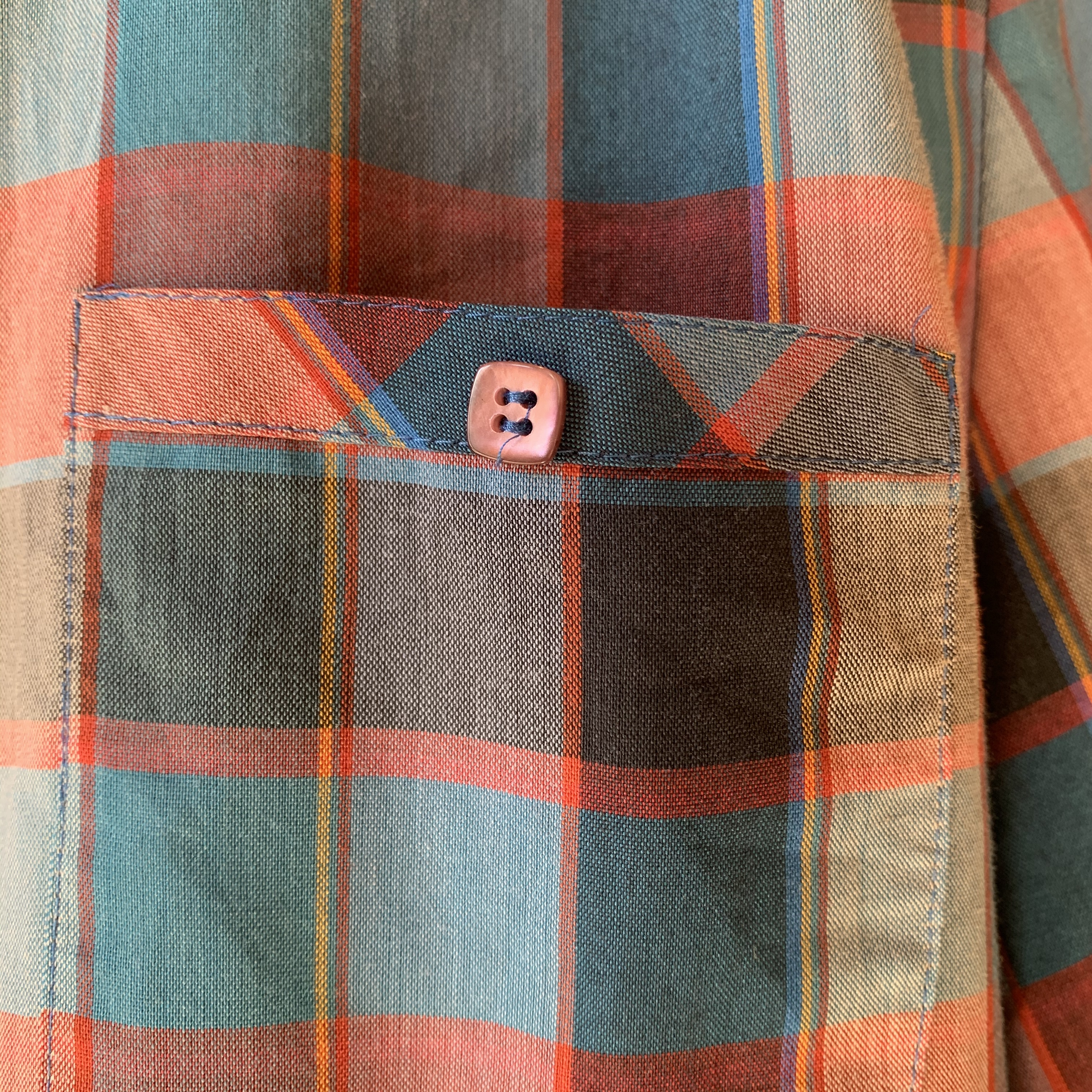 vintage check shirts onepiece
