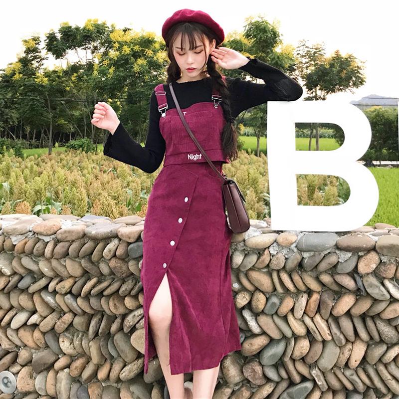 【set】無地人気高級感キュートスカート+シャツセットアップ13670577