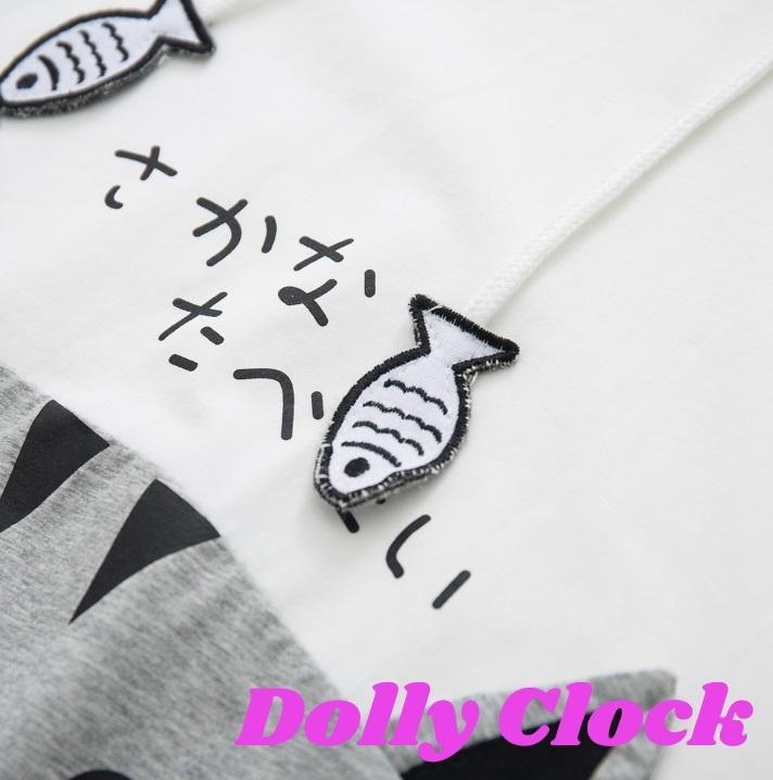 【在庫限り】おさかな('σ¬',,●)タベタィ… 半袖パーカー
