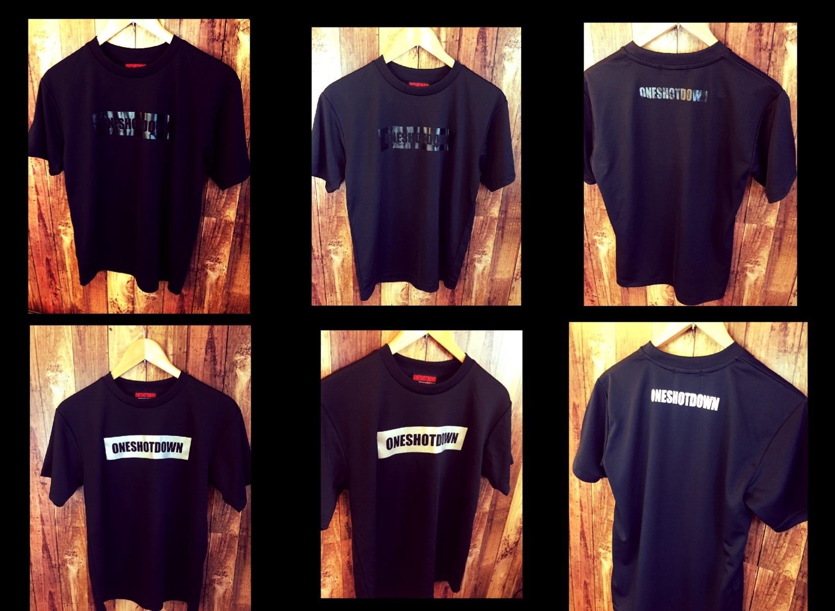 ONESHOTDOWN ボックスロゴ ドライTシャツ - 画像4