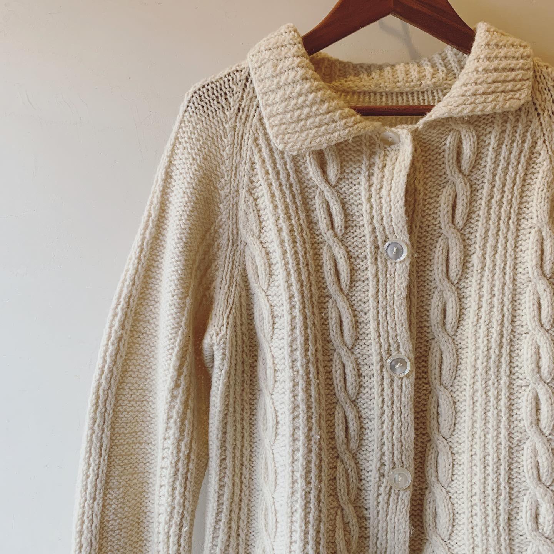 vintage wool knit cardigan