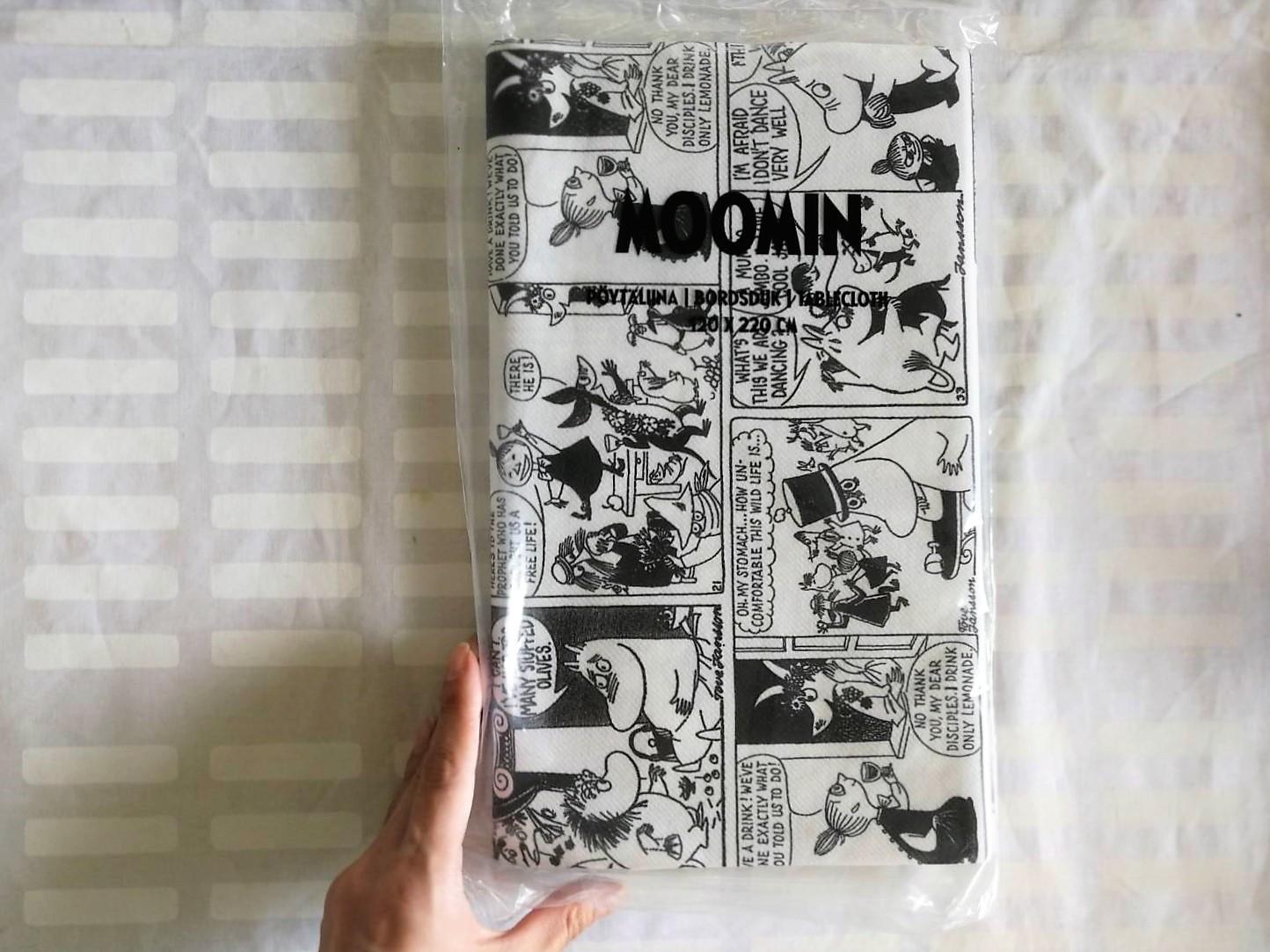 テーブルクロス / モノクロコミック / ムーミン / 120 x 220cm