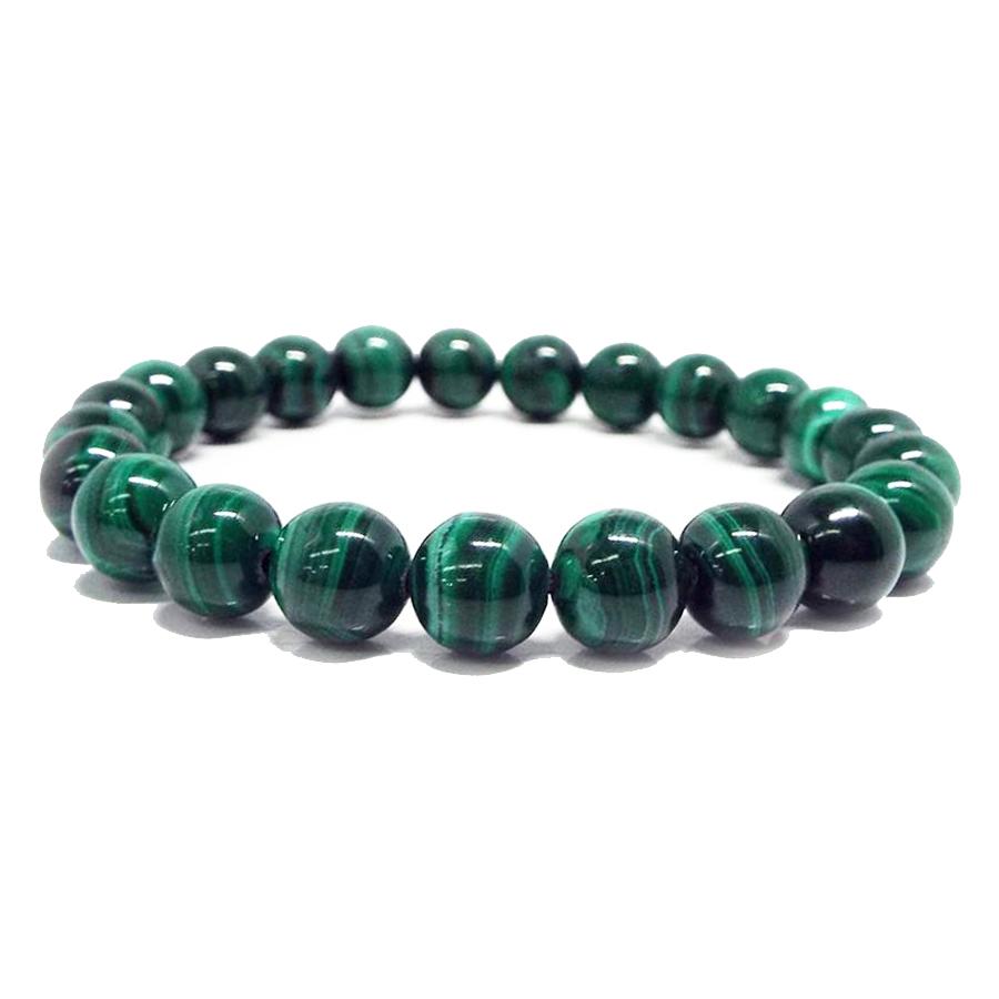 【心身の癒しに優れた石】★天然石マラカイト 孔雀石 ブレスレット(6mm)