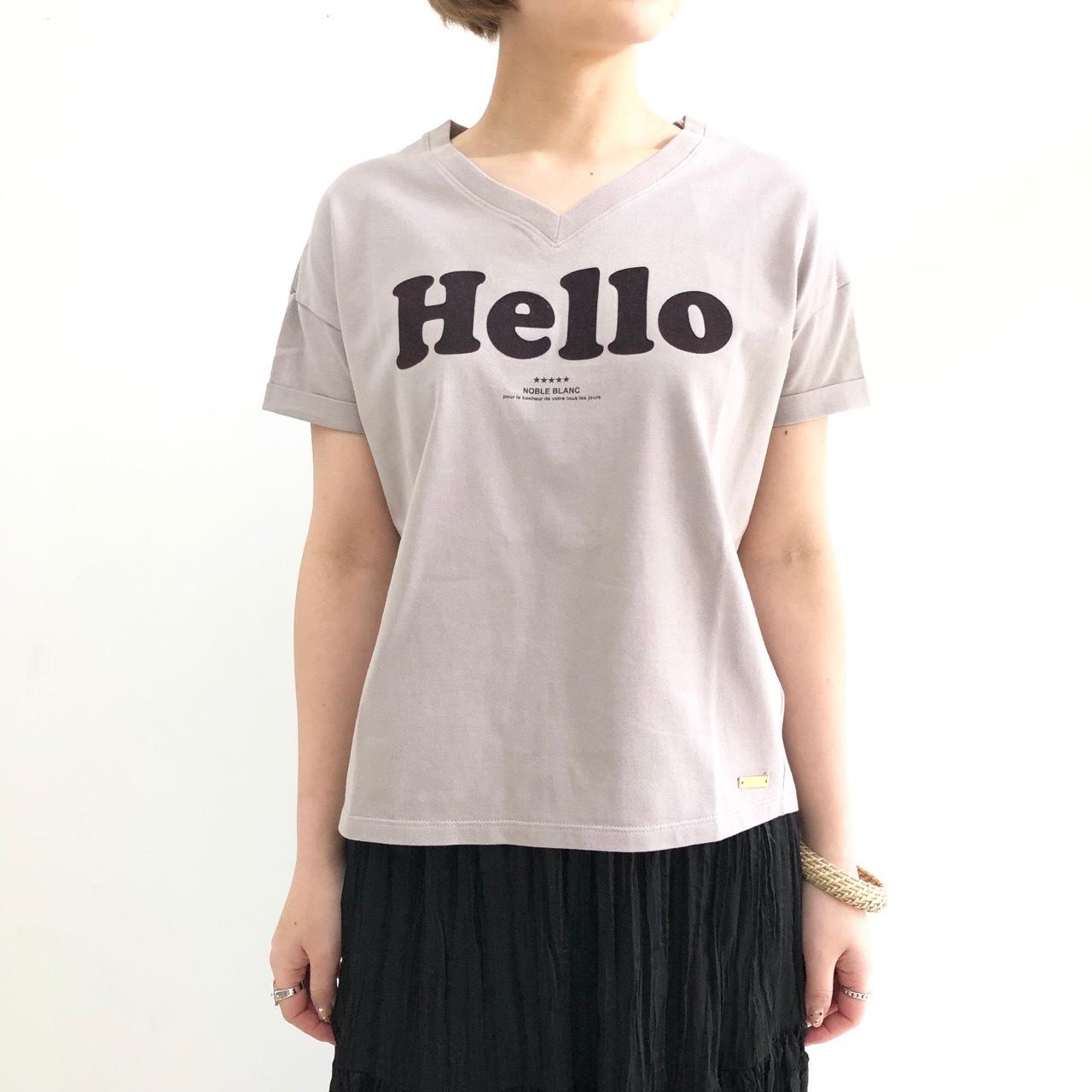 【 Noble Blanc 】Hello Teeシャツ