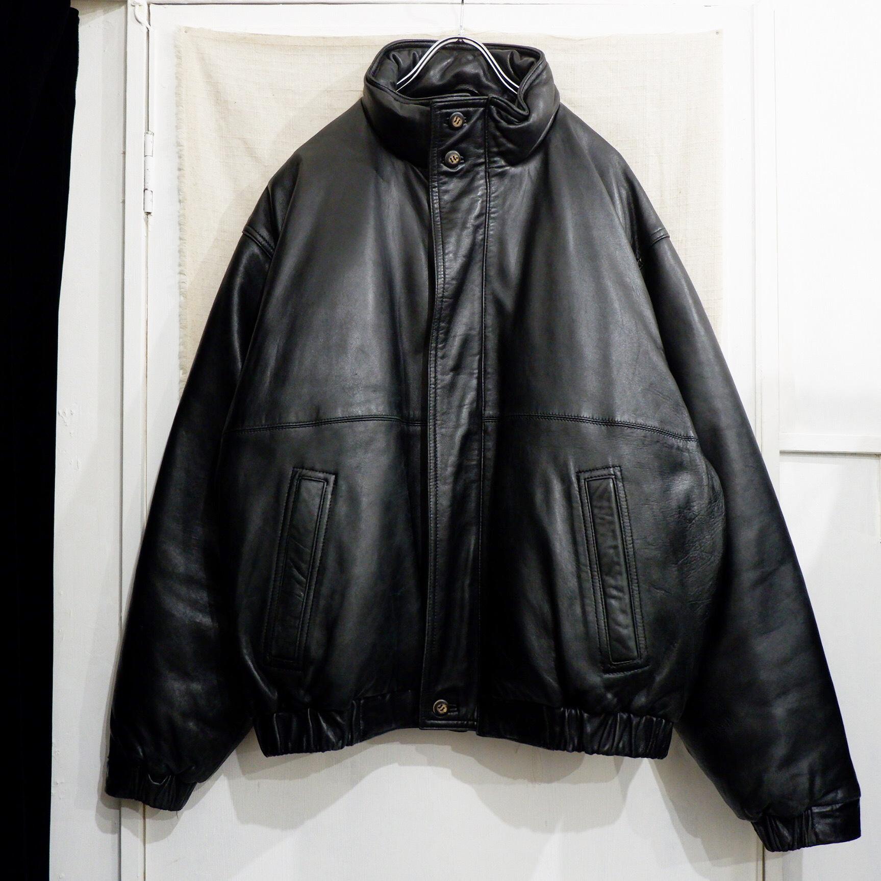 """【専用】1980s """"Eddie Bauer"""" leather × goose down jacket"""