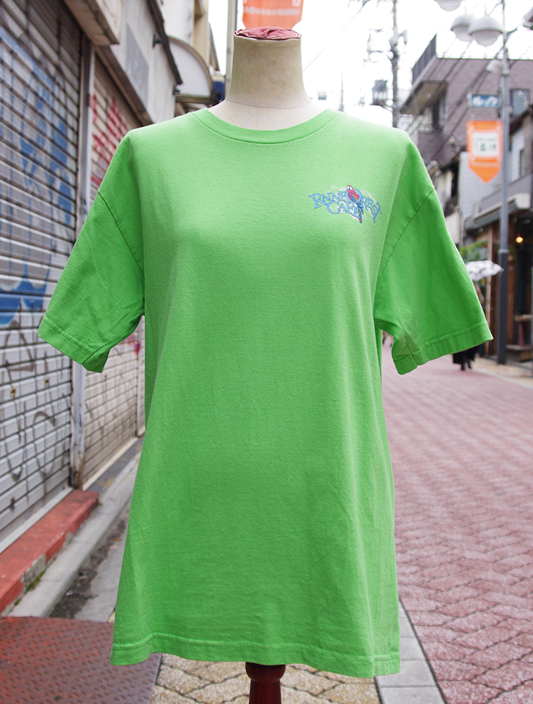 "【USED】 T-shirt ""RAINFOREST CAFE"" Mens/M-size"