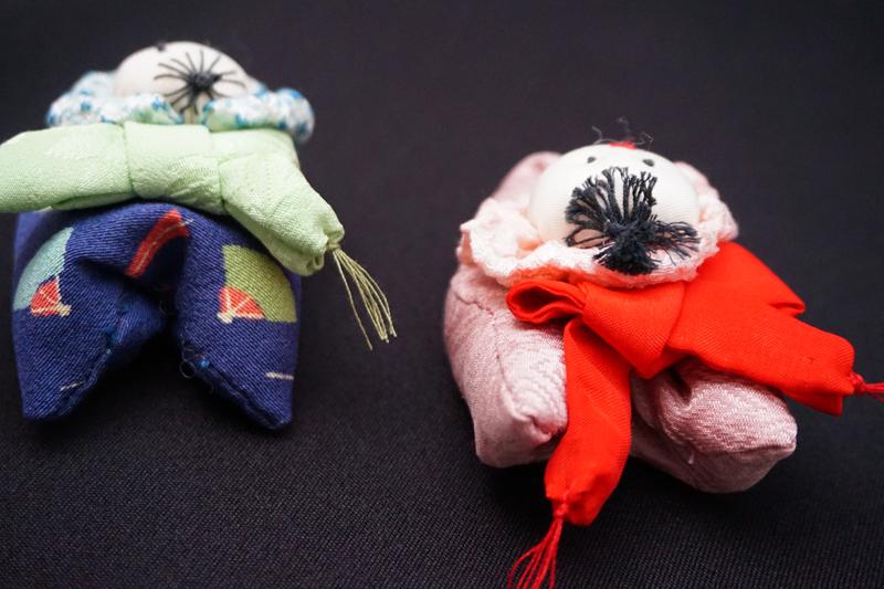 着物、和服の古布人形・クリップ「赤ちゃん」 - 画像4
