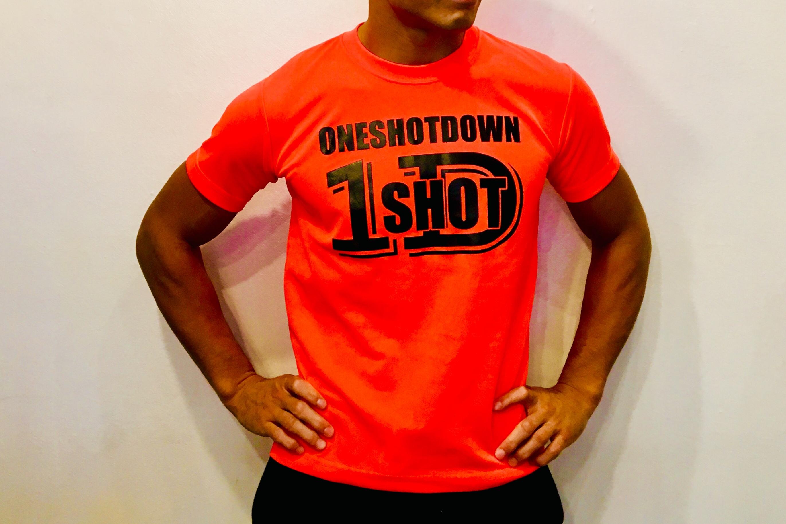 ONESHOTDOWN ネオンカラードライTシャツ - 画像2