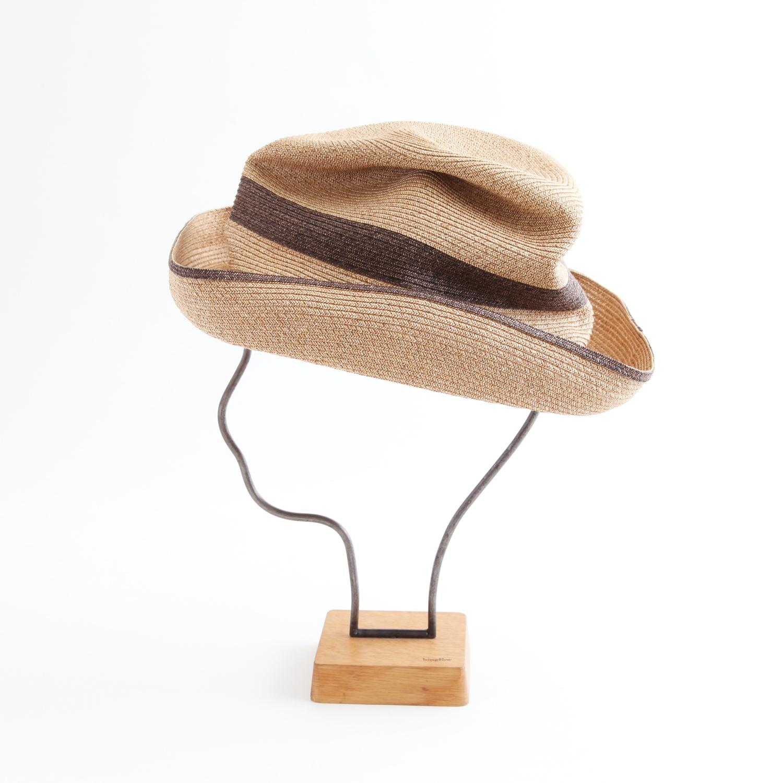 mature ha./BOXED HAT 101SWW mixbrown×darkbrown