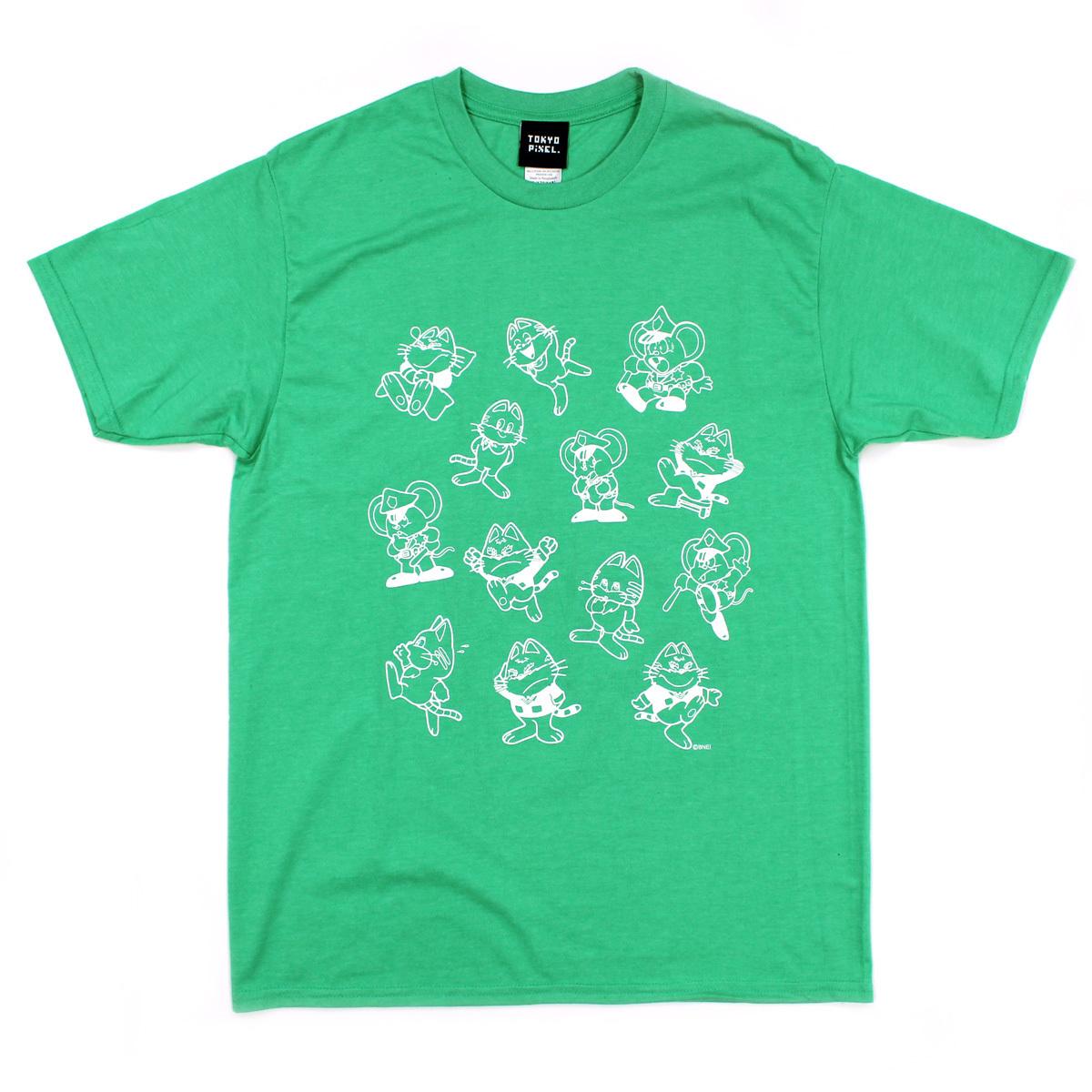 2017マッピーTシャツ 総柄 #グリーン