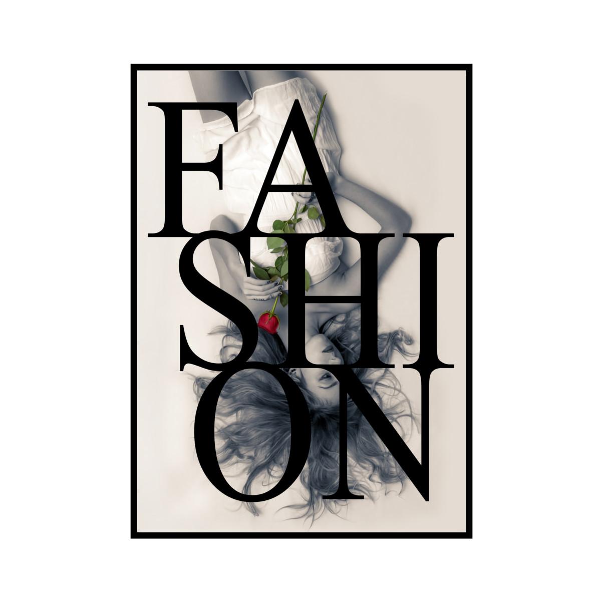 """FASION"" Model Black - POSTER [SD-000560] A4サイズ ポスター単品"