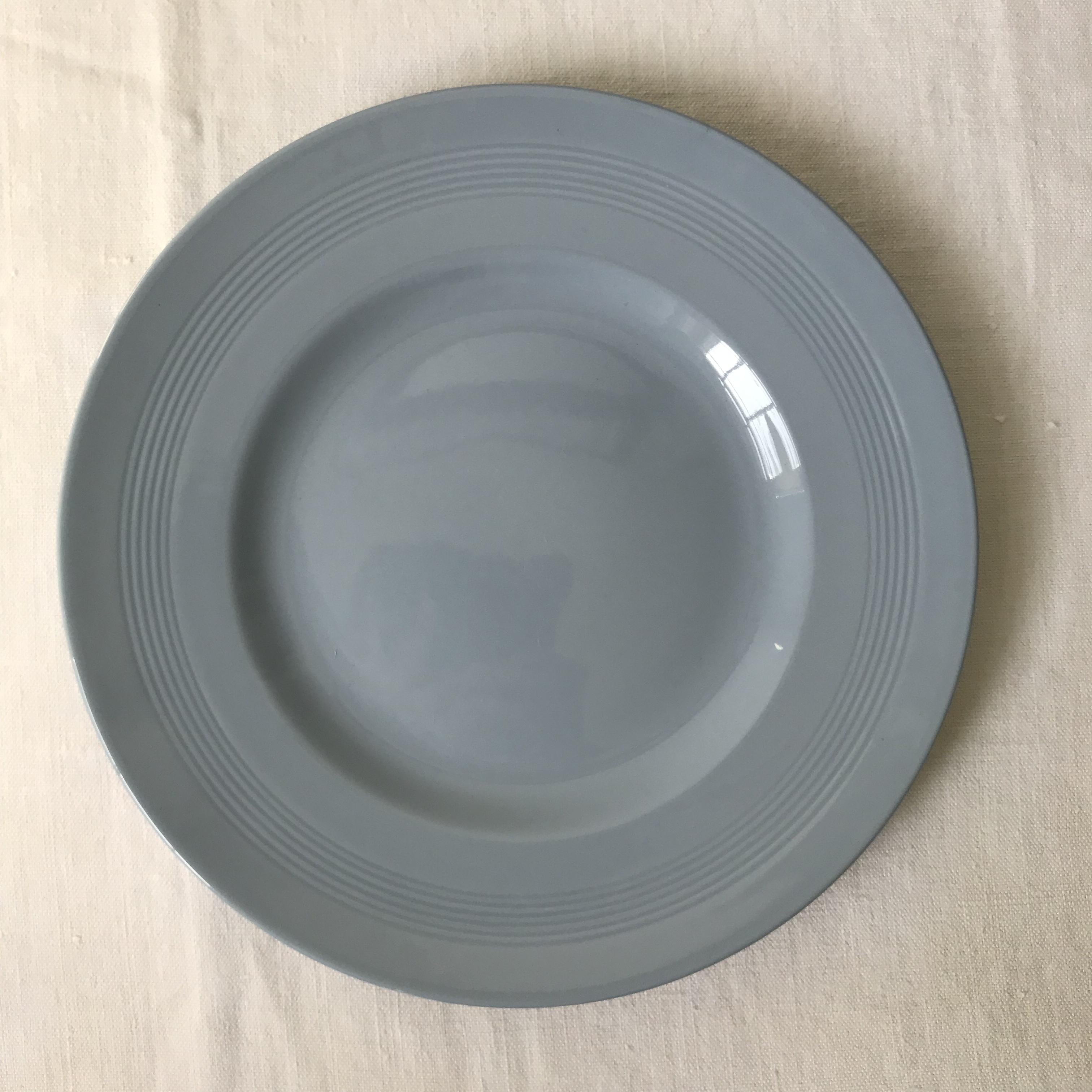ウッズの青いディナープレート