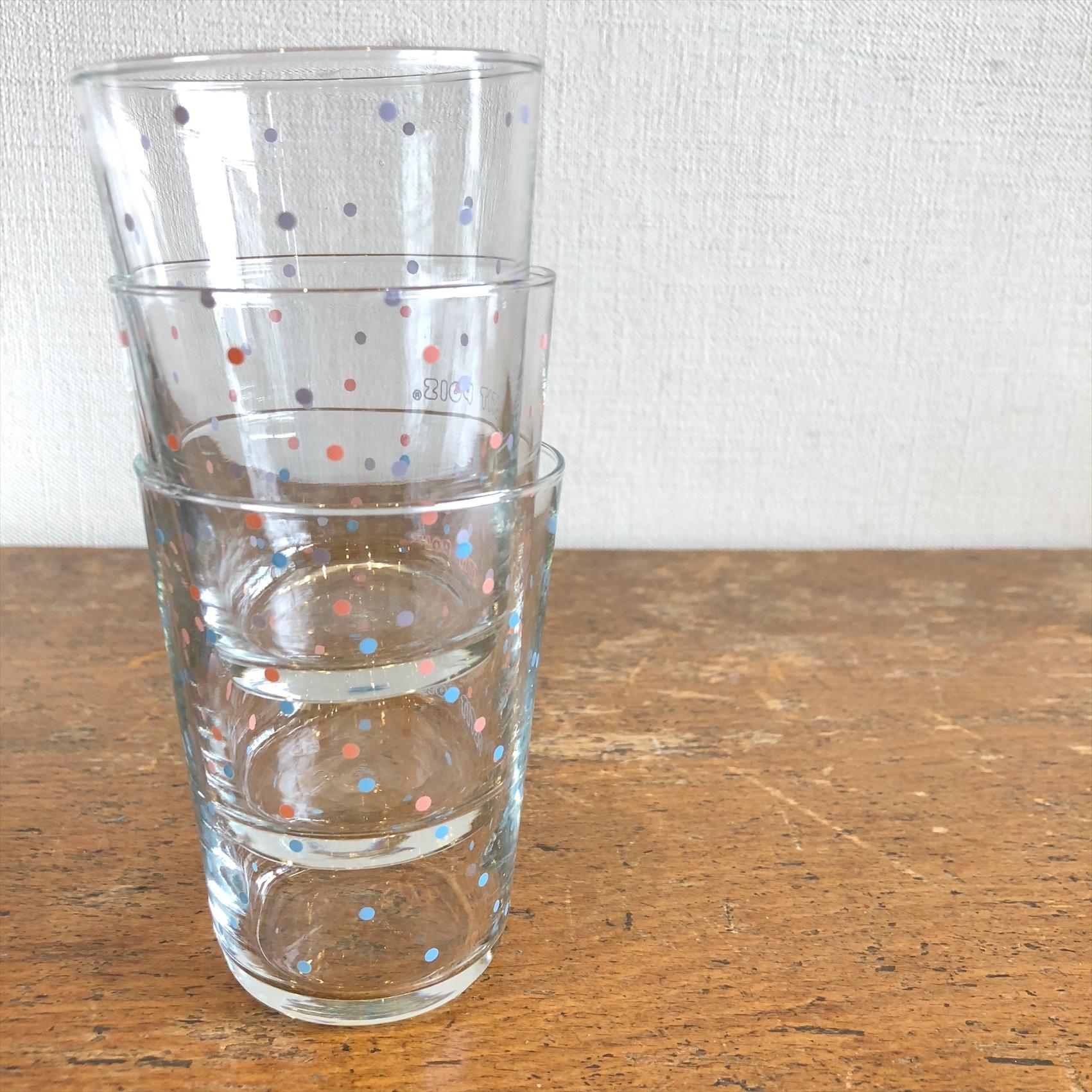 Luminarc水玉グラス