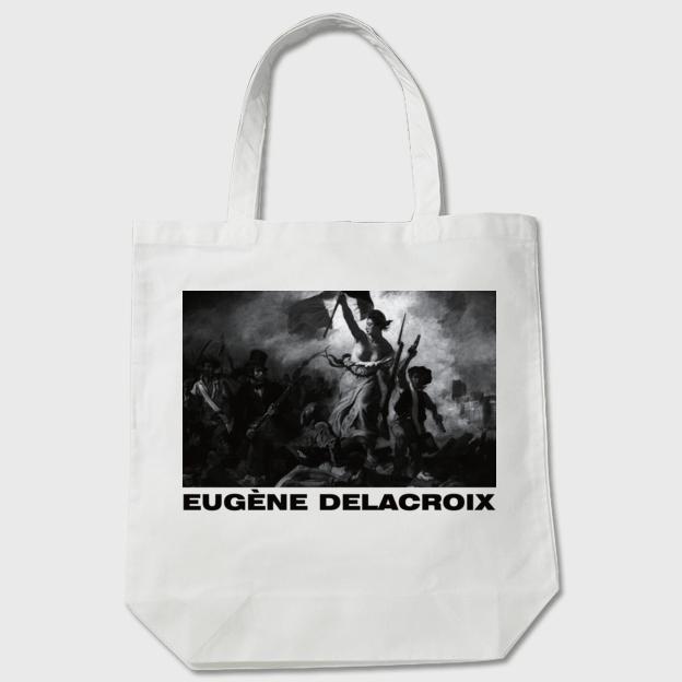ドラクロワ「民衆を導く自由の女神」トートバッグ