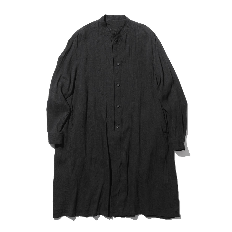 737SHM1-BLACK / スタンドカラーシャツ
