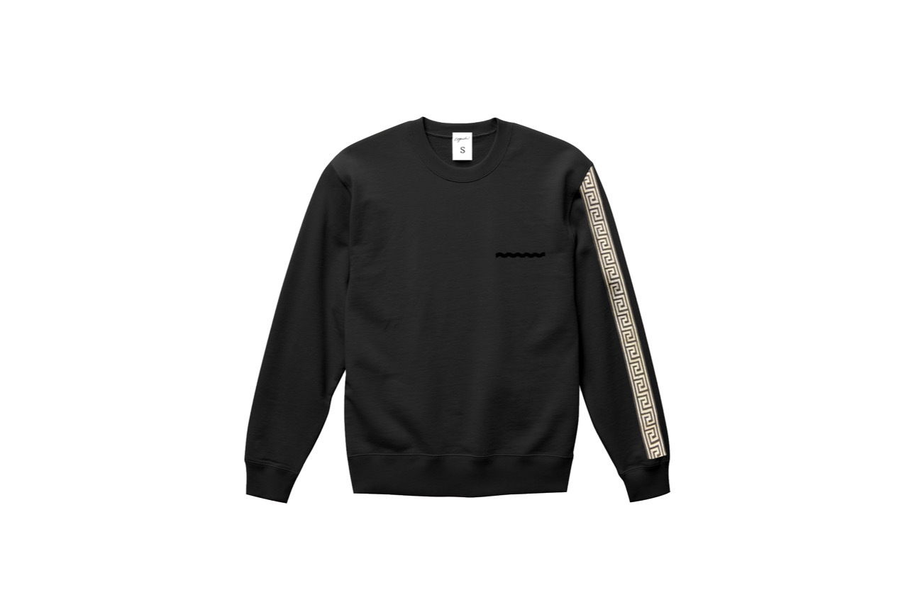 coguchi Clogo long line sweat (BLK)