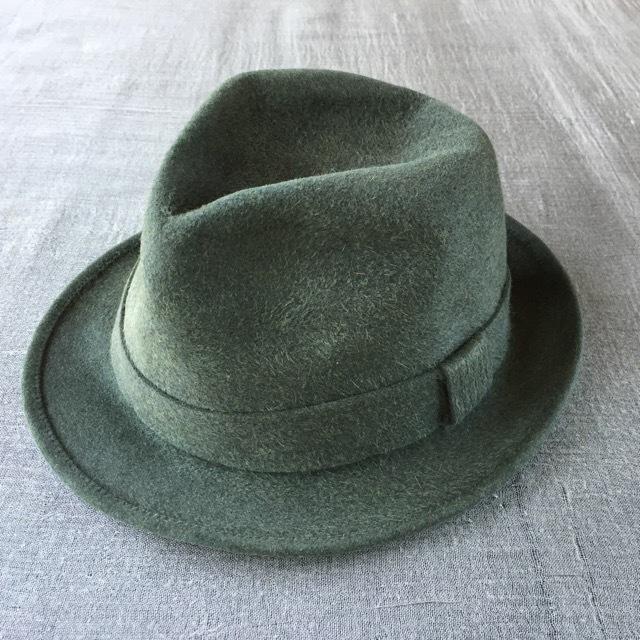 Borsalinoボルサリーノ グリーン/59cm-7 3/8inch qualità superiore (B17)