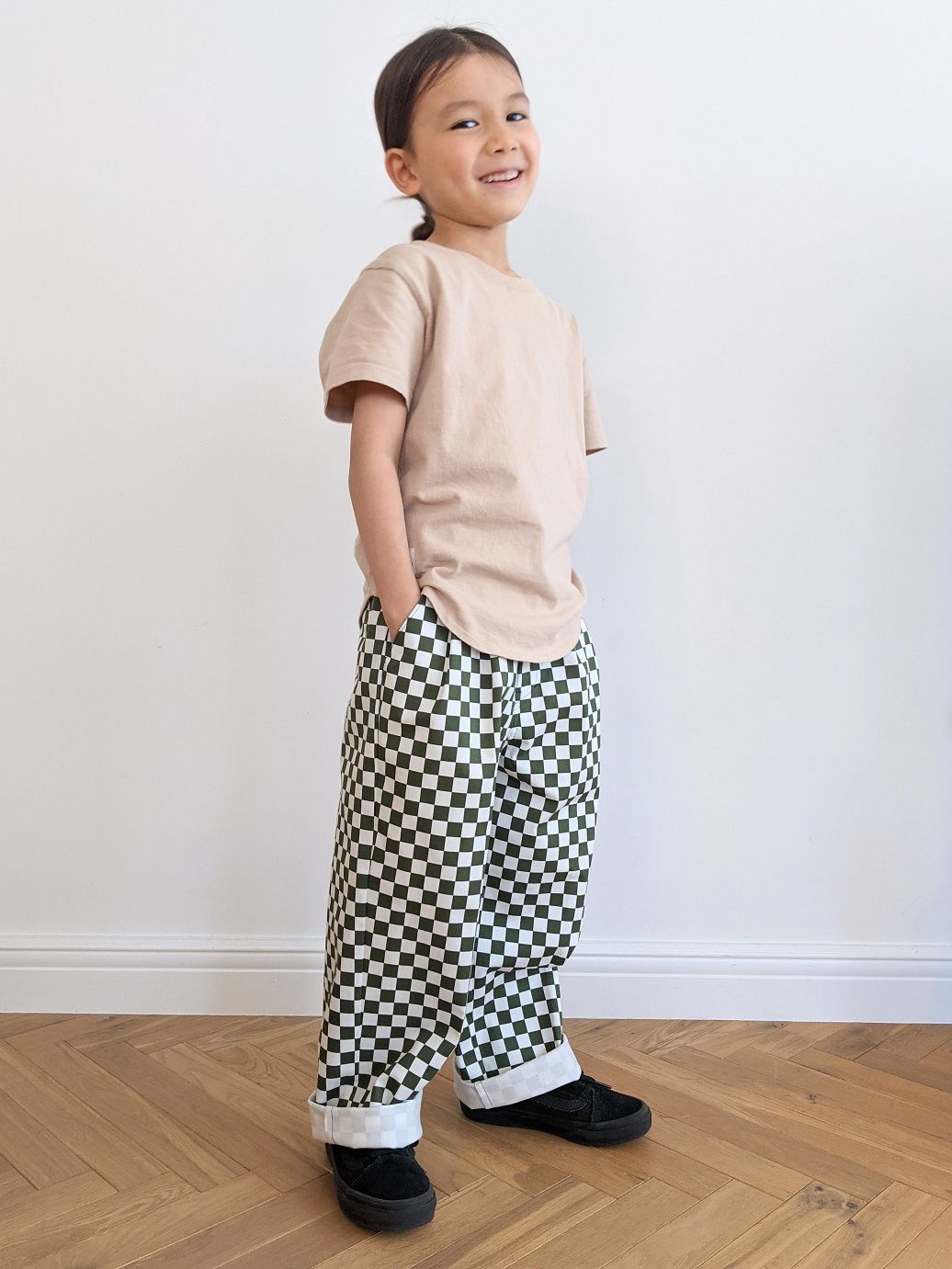Kids Checkered Trousers