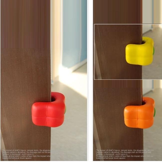 ドアクッション・パプリカ【Yellow】 子供 ・ ペットの 安全 耐久性 が高く 長持ち するウレタン素材 快適 ・ 便利なドアストッパー