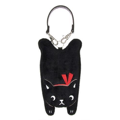 ネコ型パスケース 黒猫