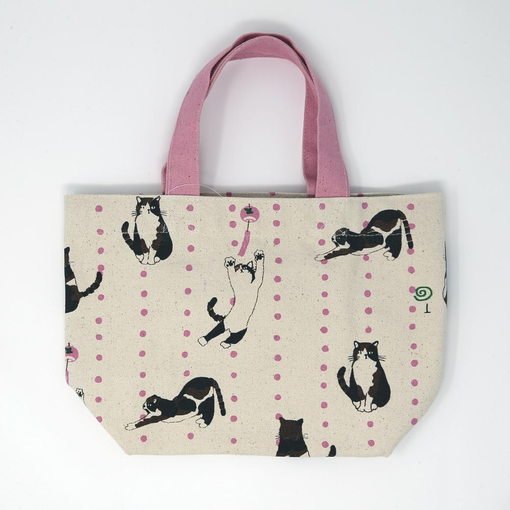 猫ミニトートバッグ(まめみやけさん)