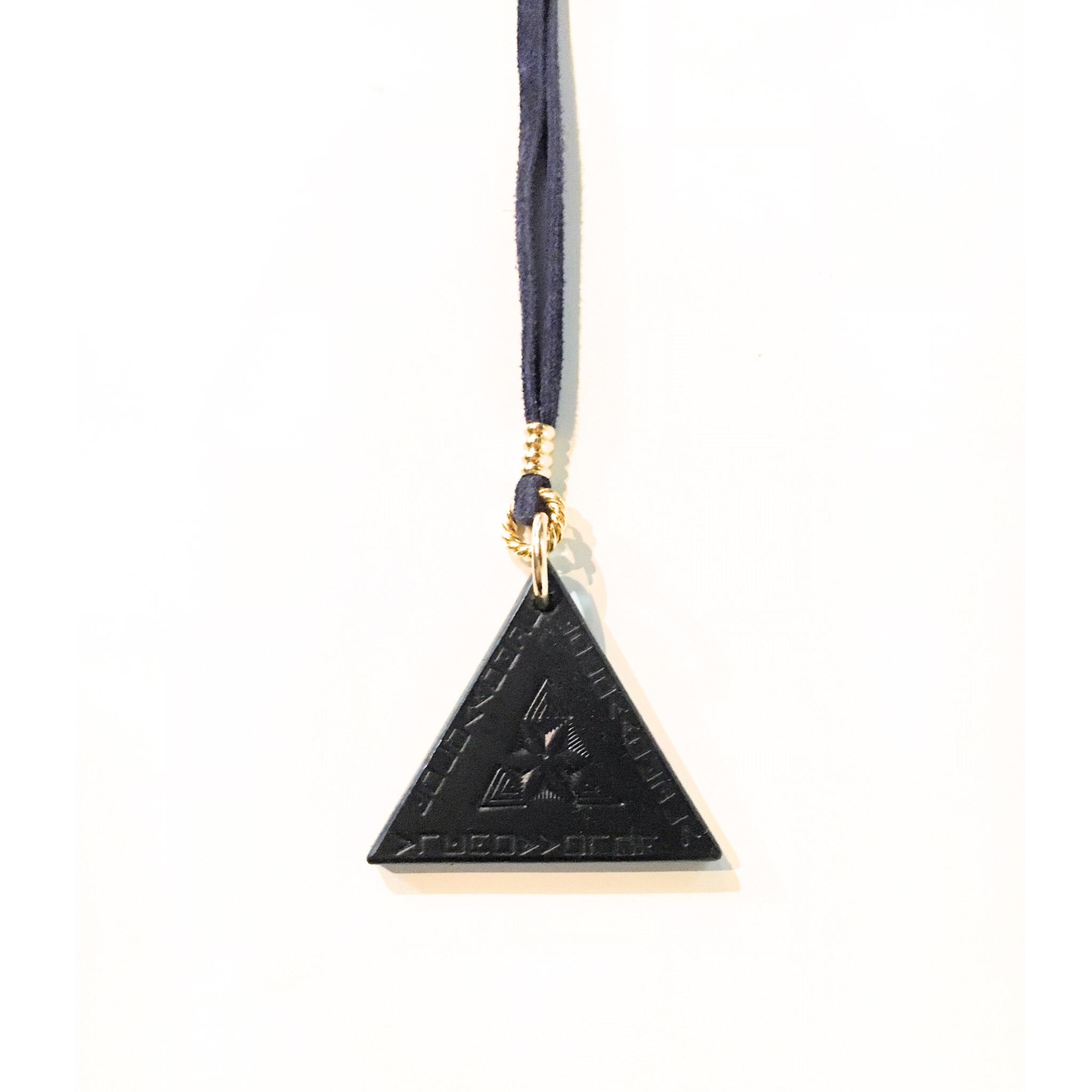 nahezu gleich / Dreieck Necklace (nvy) - 画像1