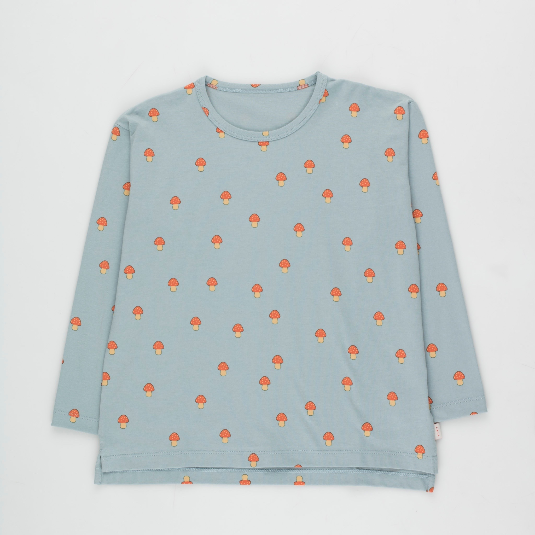 《TINYCOTTONS 2020AW》MUSHROOMS TEE / warm grey × red