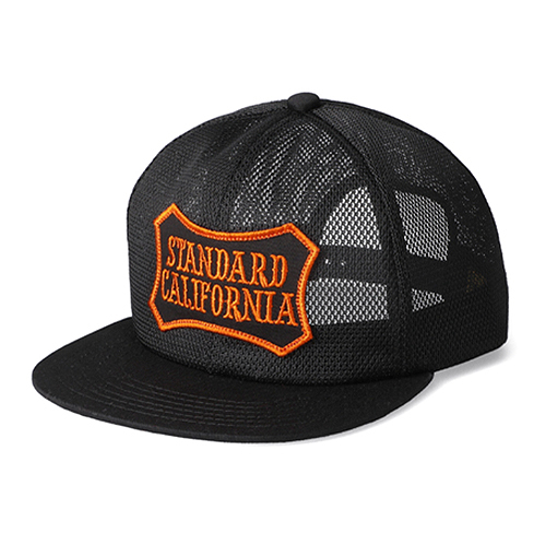 STANDARD CALIFORNIA #SD Shield Logo Patch All Mesh Cap Black