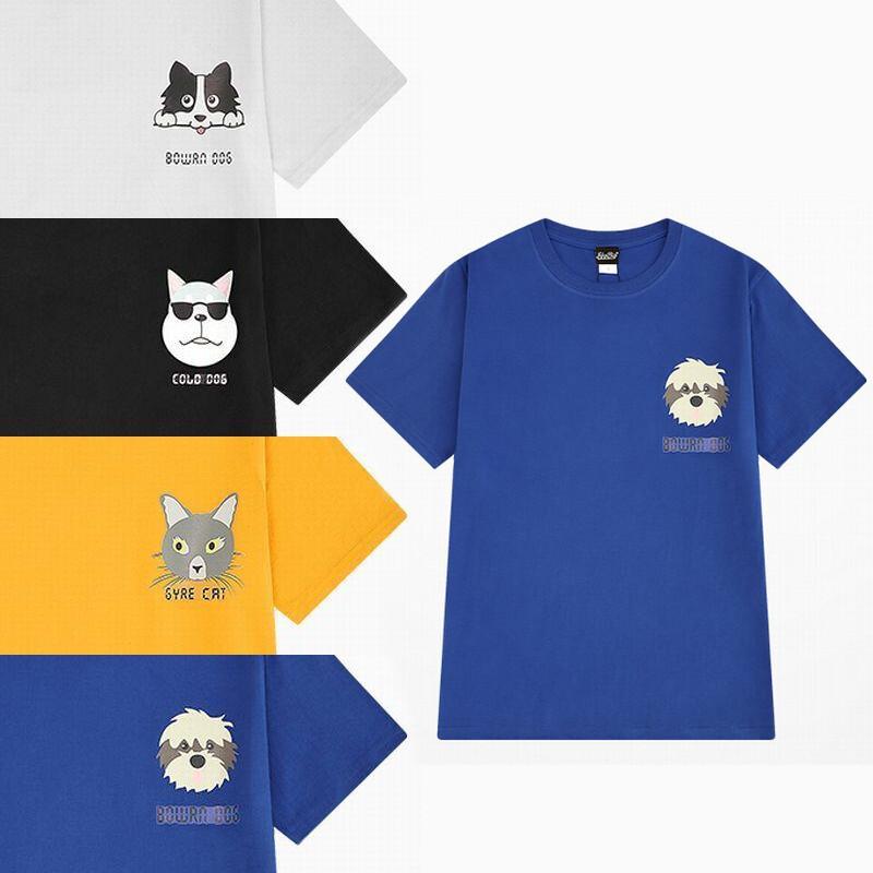 ユニセックス 半袖 Tシャツ メンズ レディース 犬 ネコ プリント オーバーサイズ 大きいサイズ ルーズ ストリート