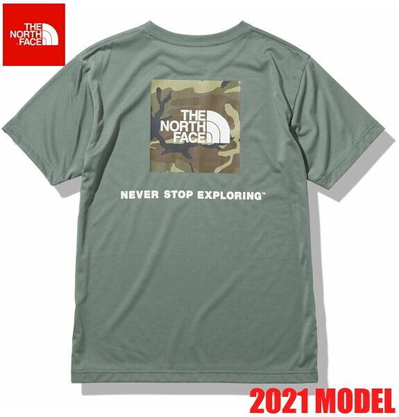 ノースフェイス 半袖 Tシャツ メンズ THE NORTH FACE ショートスリーブスクエアカモフラージュティー 2021年モデル NT32158 アガベグリーン