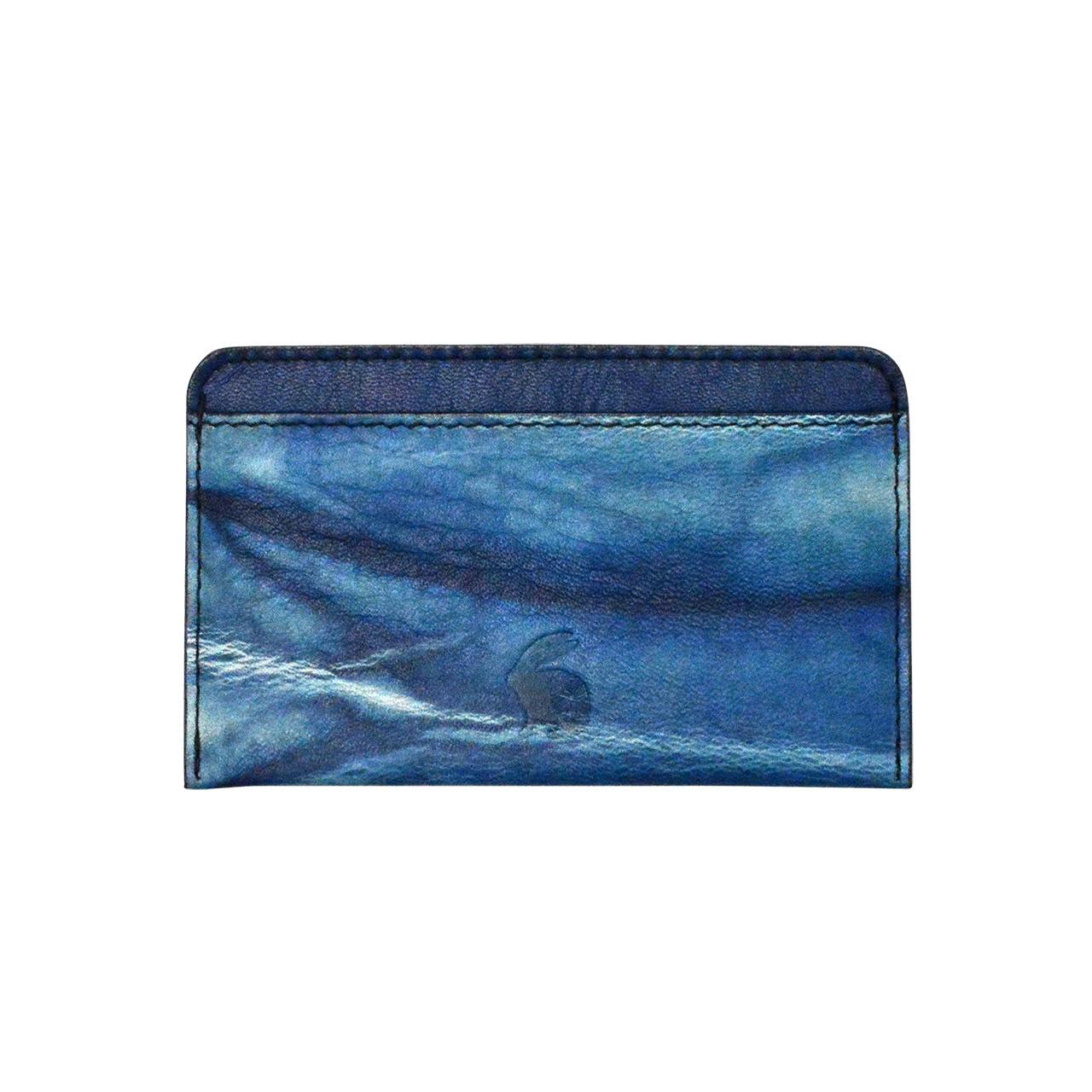 indigo  単カードケース  shibori・ 藍絞り(Tie-dye)