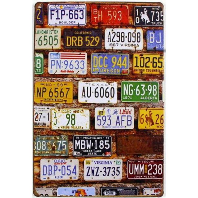 【ブリキ看板】ナンバープレート色々 小型版[A62118]